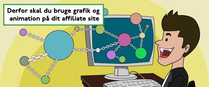 Derfor skal du bruge grafik og animation på dit affiliate site