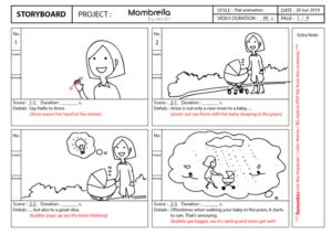Mombrella Storyboard